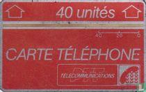 Carte Téléphone 40 unités