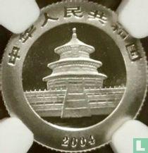"""China 50 yuan 2004 (PROOF - platina) """"Panda"""""""