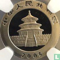 """China 100 yuan 2005 (PROOF - platina) """"Panda"""""""