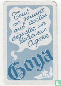 Tout en jouant aux cartes déguster un delicieux cigare Goya