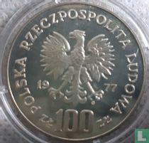 """Polen 100 zlotych 1977 (PROOF) """"Henryk Sienkiewicz"""""""