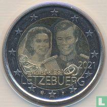 "Luxemburg 2 euro 2021 (hologram) ""40th anniversary of the marriage of Grand Duke Henri"""