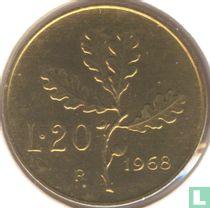 Italië 20 lire 1968