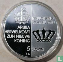 "Aruba 5 florin 2013 (PROOF) ""Investiture of King Willem-Alexander"""