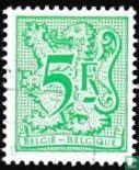 Ziffer auf heraldischem Löwen und Banner