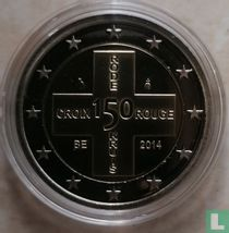 """België 2 euro 2014 (PROOF) """"150th anniversary of the Red Cross"""""""