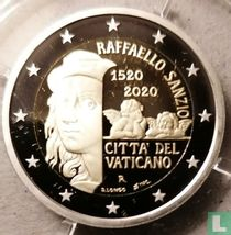 "Vatican 2 euro 2020 (PROOF) ""500th anniversary Death of Raphael Sanzio"""