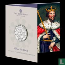 """United Kingdom 5 pounds 2021 (folder) """"1150th anniversary Alfred the Great's coronation as King of Wessex"""""""