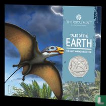 "United Kingdom 50 pence 2021 (folder) ""Dimorphodon"""