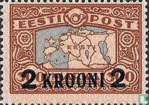 Landkaart Estland