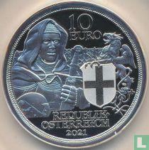 """Austria 10 euro 2021 (PROOF) """"Brotherhood"""""""