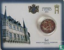 "Luxemburg 2 euro 2021 (coincard) ""40th anniversary of the marriage of Grand Duke Henri"""
