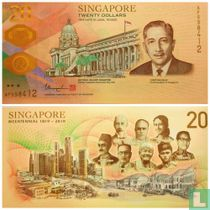 Singapore 20 Dollars 2019