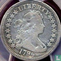 United States ¼ dollar 1796