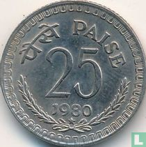 India 25 paise 1980 (Hyderabad)