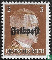 Hitler, Adolf 1889-1945 - opdruk feldpost