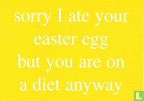 """London Cardguide """"sorry I ate your easter egg..."""""""