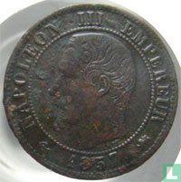 Frankrijk 1 centime 1857 (D)