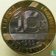 "Frankrijk 10 francs 1989 ""300th Anniversary of the birth of Montesquieu"""