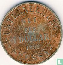 Nederlands-Indië 1 dollar 1888 Plantagegeld Sumatra Hessa