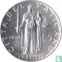 Vaticaan 5 lire 1952