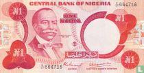 Nigeria 1 Naira ND (1979-) P19a
