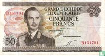 Luxembourg 50 Francs (P55a)
