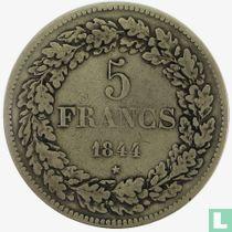 Belgium 5 francs 1844