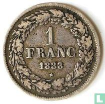 België 1 franc 1833 (muntslag)