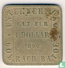 Nederlands-Indië 1 dollar 1890 Plantagegeld Sumatra, Goerach Batoe
