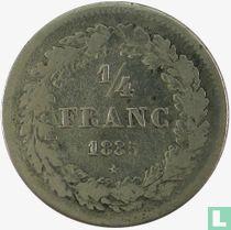 België ¼ franc 1835 (met BRAEMT F.)