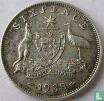 Australië 6 pence 1938