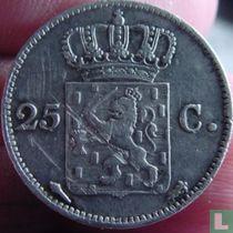 Netherlands 25 cent 1822