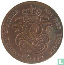 België 2 centimes 1847