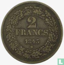 Belgium 2 francs 1843