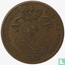 België 1 centime 1860 (met streep onder cent)