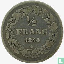 België ½ franc 1840