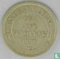 Nederlands-Indië ½ dollar 1888 Plantagegeld Sumatra Hessa