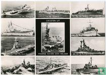 11-luik Kon. Marine met Vliegdelschip Karel Doorman en andere marineschepen