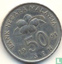 Maleisië 50 sen 1991