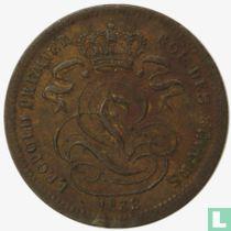 België 1 centime (Overslag 1833/2 op Nederland ½ cent)