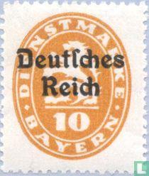 Opdruk op zegels Bayern