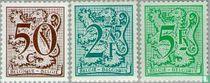Cijfer op heraldieke leeuw en wimpel