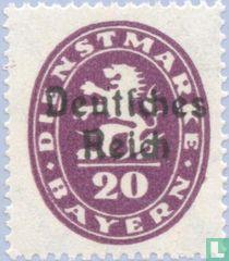 Opdruk op zegels Beieren
