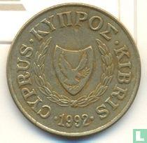 Cyprus 20 cents 1992