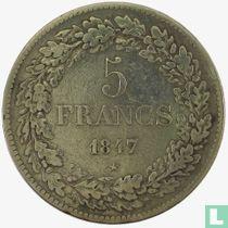 Belgium 5 francs 1847