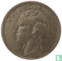 België 20 francs 1934 (LEOPOLD III - met trema)