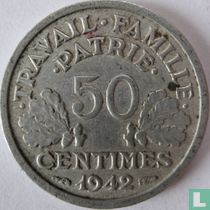 Frankreich 50 Centime 1942