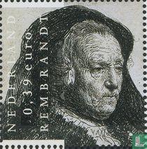 Rembrandt van Rijn - Zittende oude vrouw