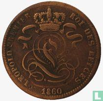België 1 centime 1860 (zonder streep onder cent)